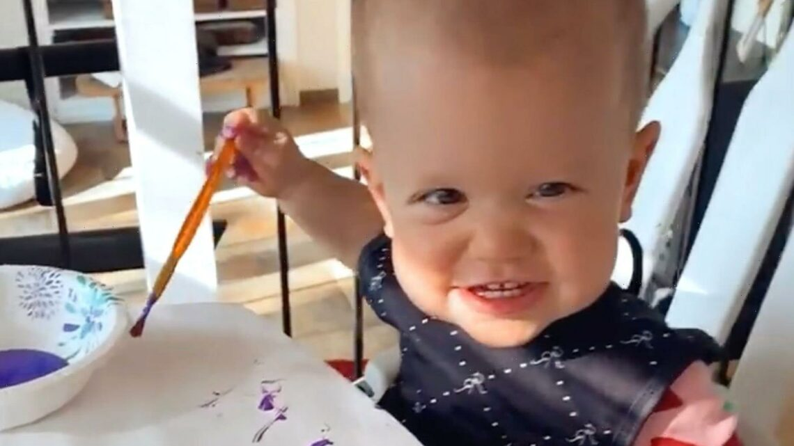 Little People's Tori Roloff shares video of kids Jackson, 4, & Lilah, 1, painting after revealing miscarriage heartbreak