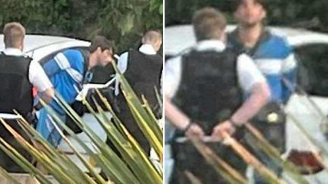 Love Island's Jack Fincham pictured being quizzed by cops after hanging out in car park at 5am