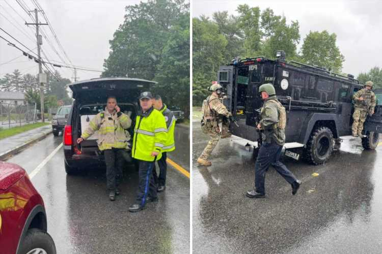 Middleborough active shooter: 'Gunman in fatigues fires several shots inside transport depot before fleeing into woods'