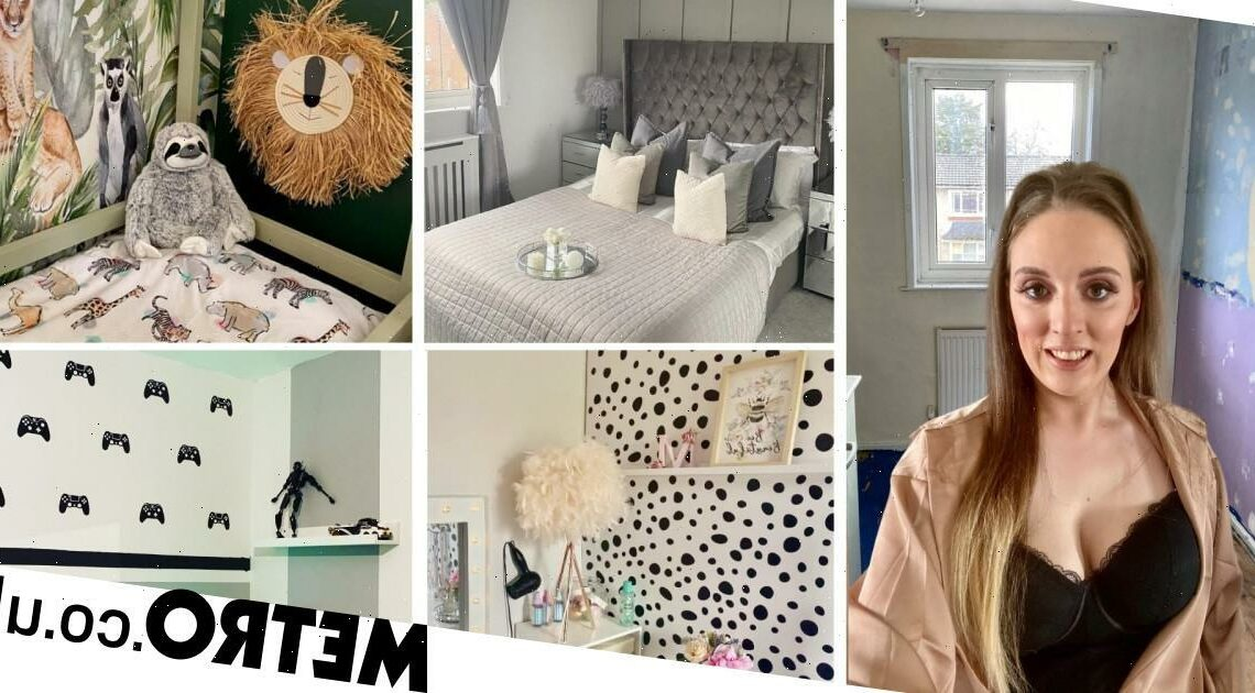 Mum transforms four bedrooms with a budget of just £1500