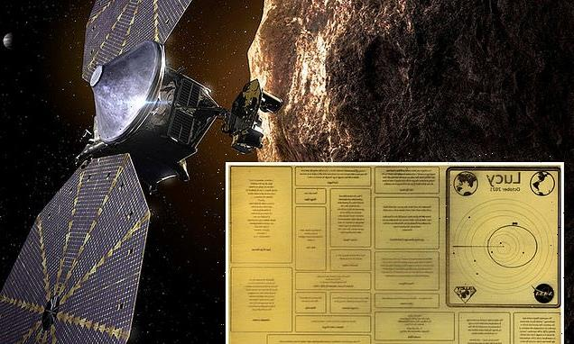 NASA's mission to the Trojan asteroids has a plaque with famous people