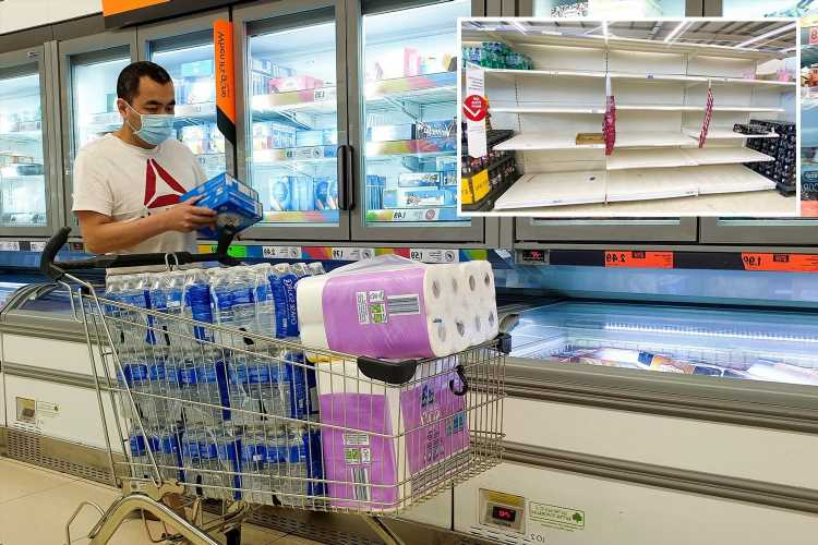 No 10 'very concerned' about food shortages but public warned 'don't panic buy' as Pingdemic cripples Britain
