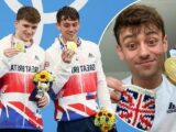 Olympic champion Tom Daley knits Tokyo 2020 gold medal case