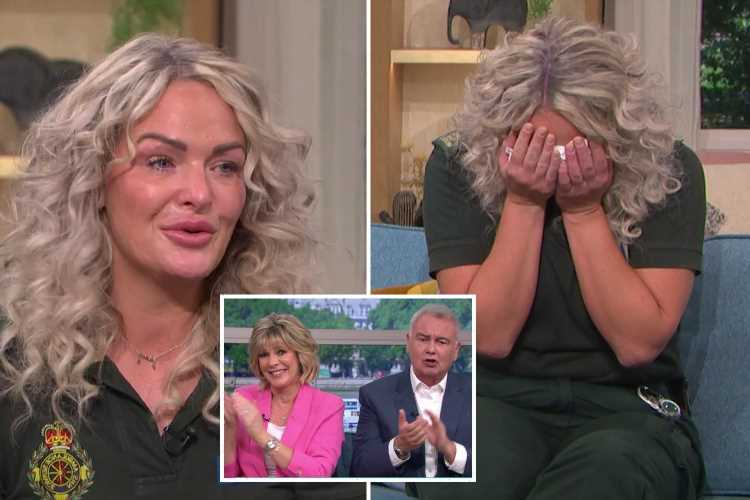 Paramedic who was brutally stabbed breaks down in tears on This Morning – but viewers are shocked attacker only got 9yrs