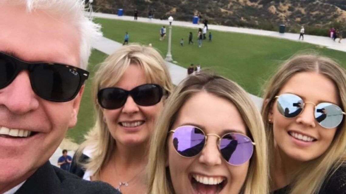 Phillip Schofield reunites with his wife Stephanie for family holiday to celebrate their daughter Molly's 28th birthday