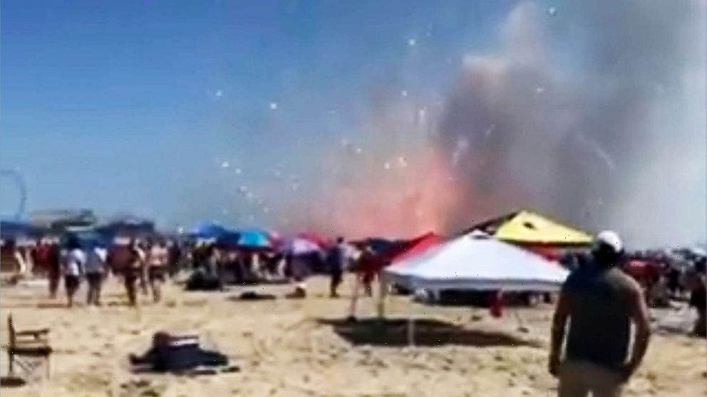 Premature fireworks ignition startles unsuspecting beachgoers in Maryland