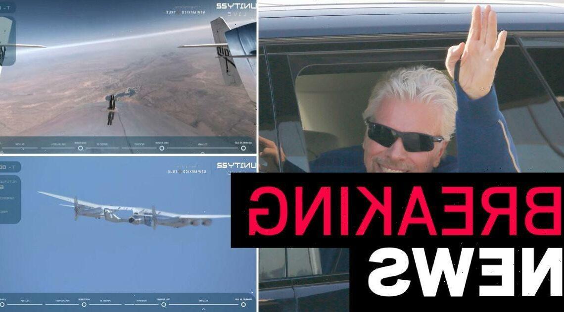 Richard Branson blasts off into space on Virgin Galactic flight