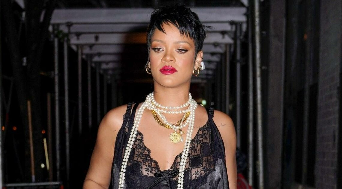 Rihanna Just Showed Up Every 1920s Flapper in Her Lacy Lingerie Dress and Pearls