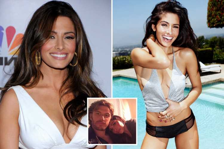 Sex/Life star Sarah Shahi is cream of the crop tops by the pool