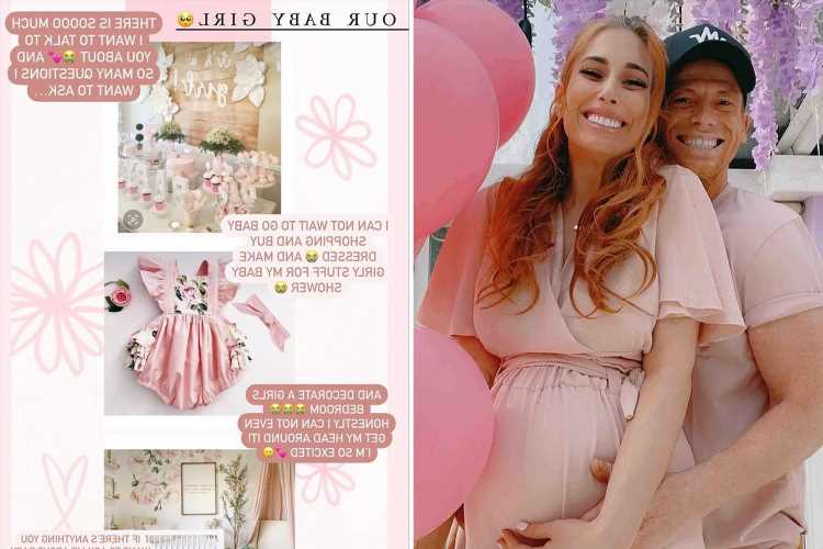 Stacey Solomon admits she's 'so excited' for the 'pink pickle' and can't wait for her 'girly baby shower'