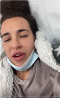 Stephanie Davis reveals she's suffering 'severe' chest pain and is on morphine after being hospitalised with coronavirus