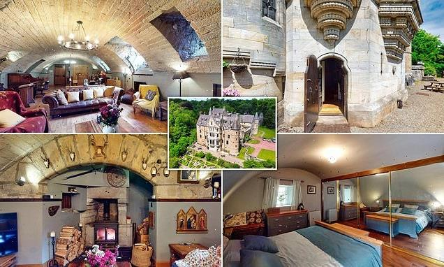 This two-bedroom flat is in a converted Scottish castle