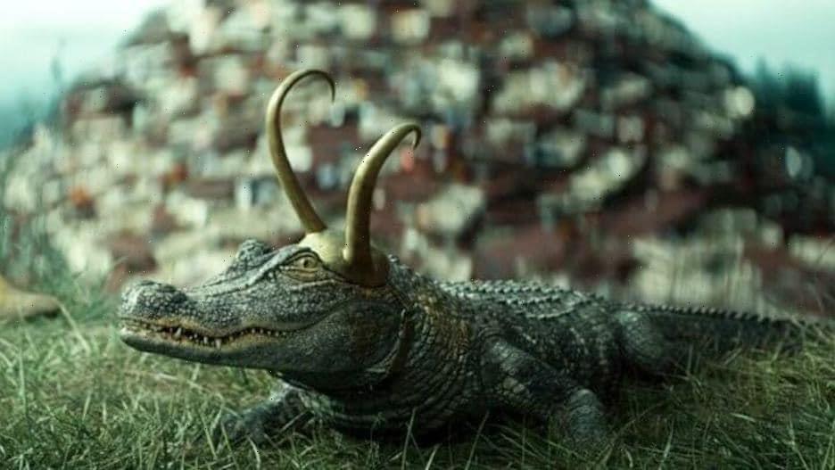 Tom Hiddleston Says 'Clearly' Superior Alligator Loki Caused Delays on 'Loki' Set (Video)