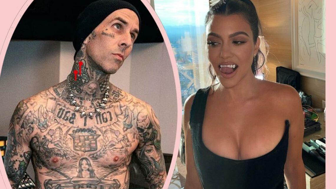 Travis Barker Reacts To Kourtney Kardashian's Gross But Flirty 'Blood' Comment