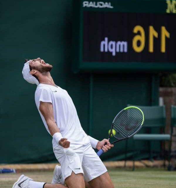 Wimbledon: Karen Khachanov 'super happy' after battling five-set win over Sebastian Korda