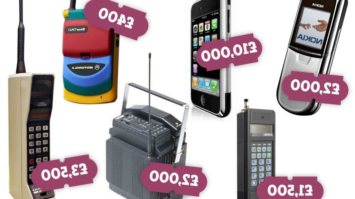 You could get up to £10,000 for your old phone – check if you have a valuable one at home