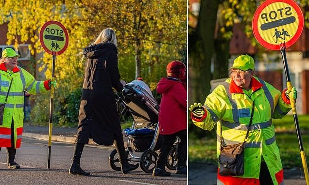 Britain's longest serving lollipop lady finally hangs up her stick