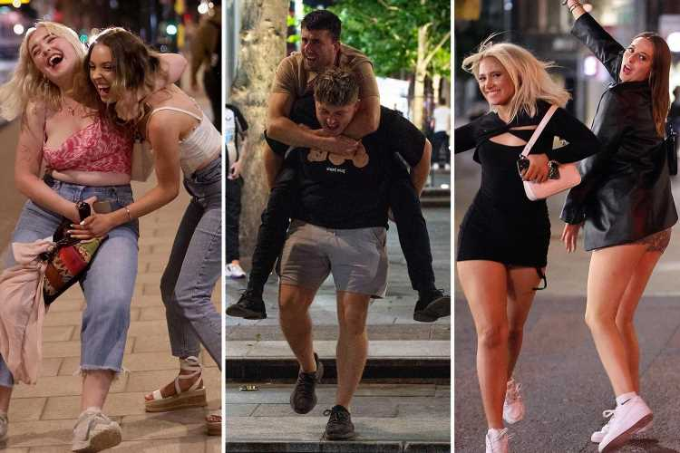 Brits kick off Bank Holiday weekend with a bang as they hit town for boozy nights out