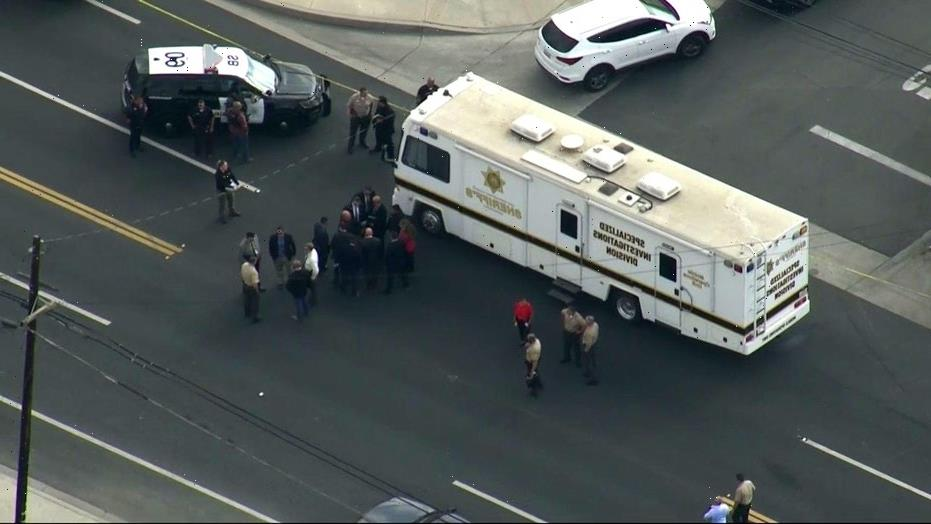 California suspect in ambush shooting of deputy killed, two officers injured, authorities say