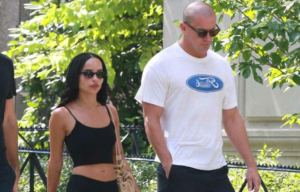 Channing Tatum and Zoë Kravitz stroll through Central Park