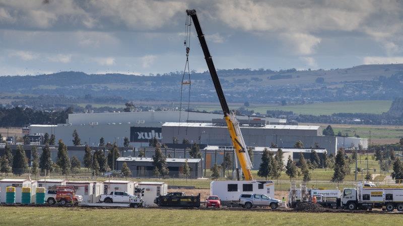 Construction of Mickleham quarantine camp is under way