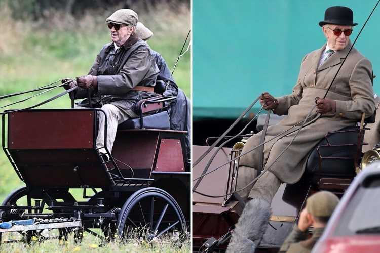 First look at The Crown's Jonathan Pryce as Prince Philip making dramatic entrance on horse and carriage