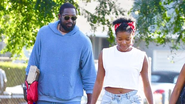 Gabrielle Union Cozies Up To Husband Dwyane Wade In Yellow Short Shorts On Vacation  Pics
