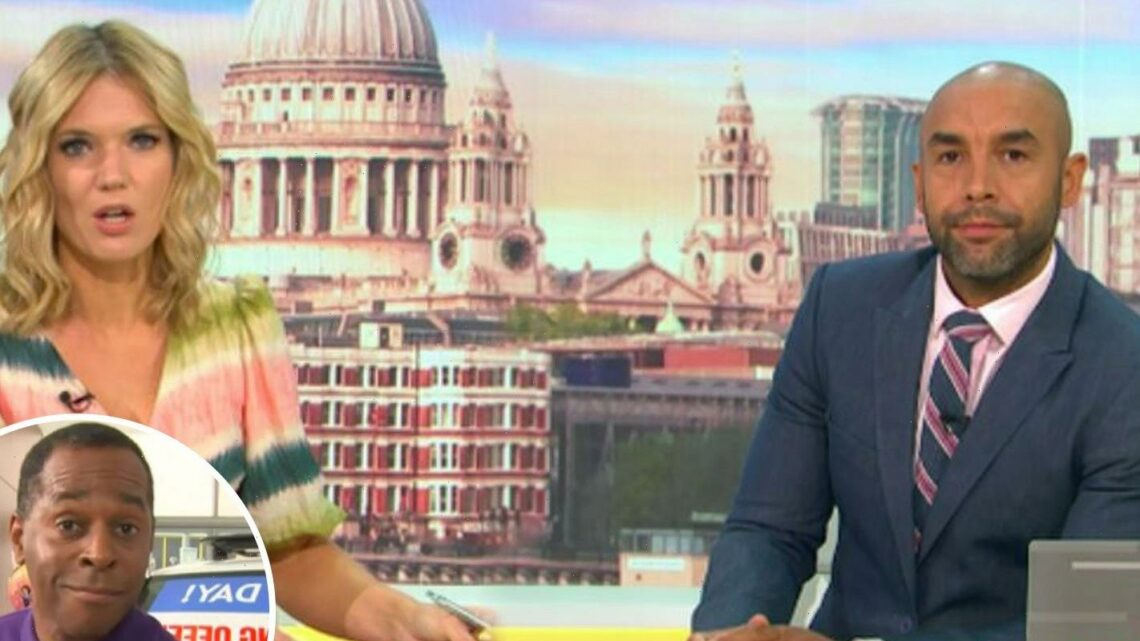 Good Morning Britain's Andi Peters walks off camera after Alex Beresford brands him cheap