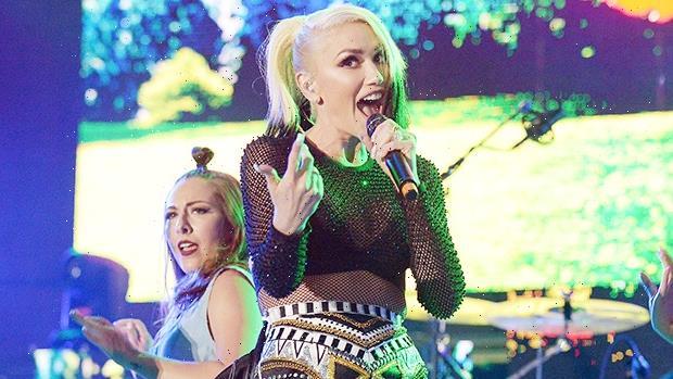 Gwen Stefani Slays In Short Shorts & A Crop Top On 'Honeymoon Tour' With Blake Shelton