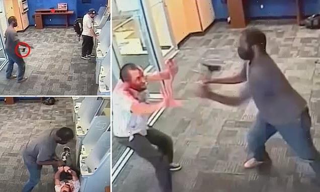 Hatchet-wielding assailant slashes man at ATM inside Manhattan bank