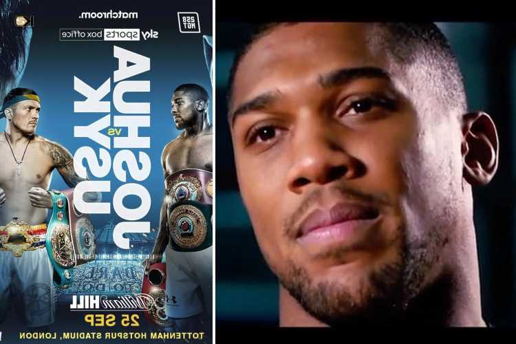 Heart-pumping trailer released for Anthony Joshua's September showdown with Oleksandr Usyk as Tyson Fury fight looms
