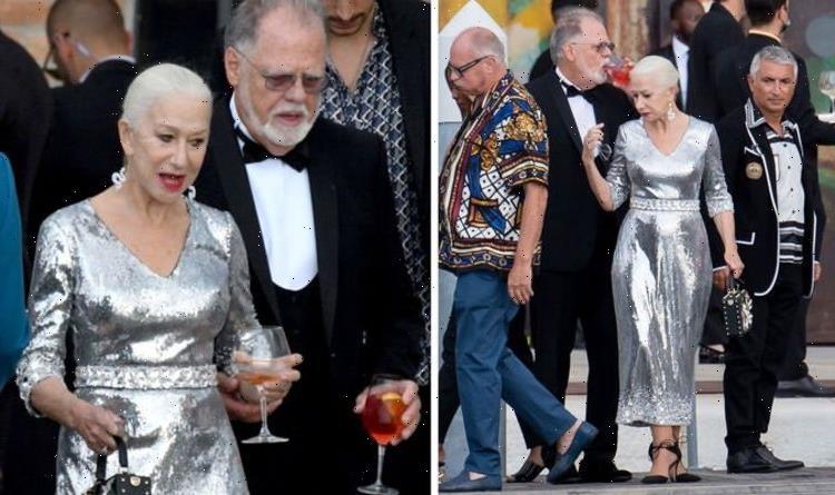 Helen Mirren, 76, steals spotlight in jaw-dropping silver dress at Dolce & Gabbana show