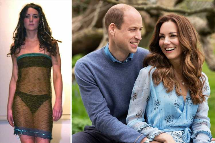 How Kate Middleton bagged Prince William in THAT underwear-flashing 'dress' (it was actually a skirt she'd 'hitched up')
