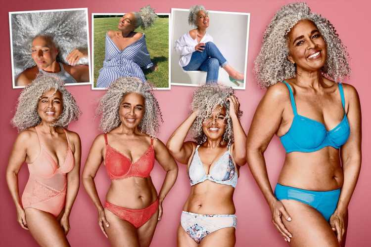 I was told I could never be a model… now I'm posing in lingerie at 55