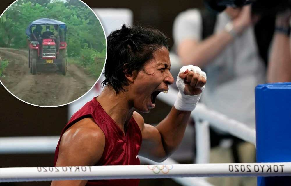 Indias bronze-winning boxer honored with new road in rural village