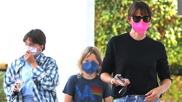 Jennifer Garner Takes Kids Seraphina, 12, & Samuel, 9, School Shopping After Bens Family Night With J.Lo