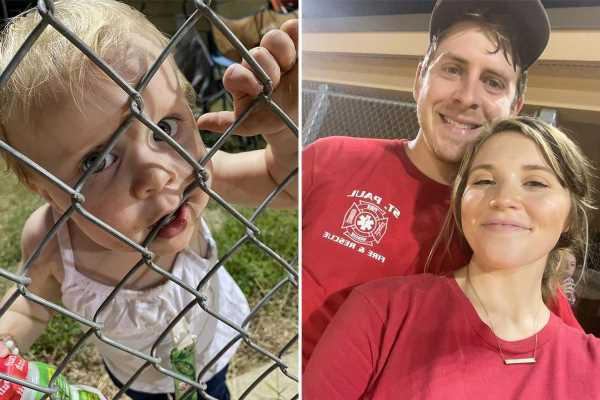 Joy-Anna Duggar slammed for allowing daughter Evelyn, 1, to put her mouth on 'nasty gate' at softball game