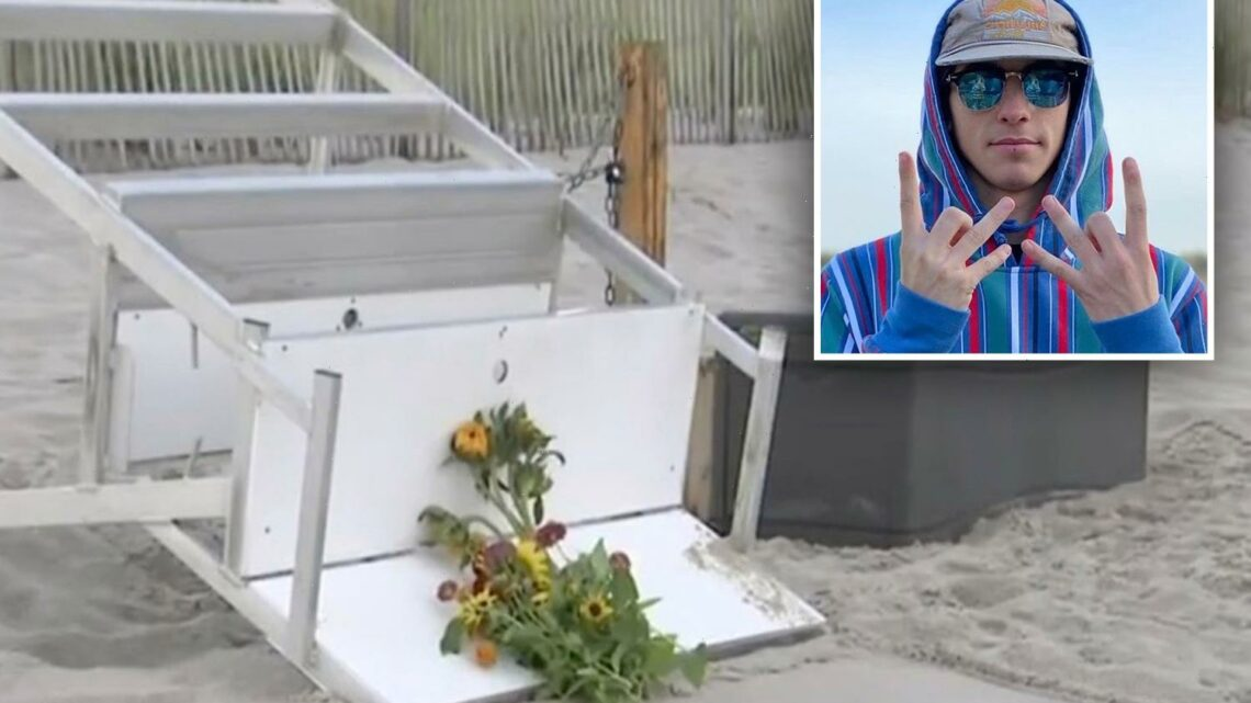 Lifeguard Keith Pinto, 19, is killed by lightning and seven others are hurt in strike at Berkeley Township beach