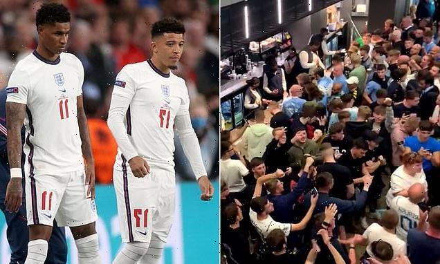 Manchester City fans chant Rashford and Sancho 'let the country down'