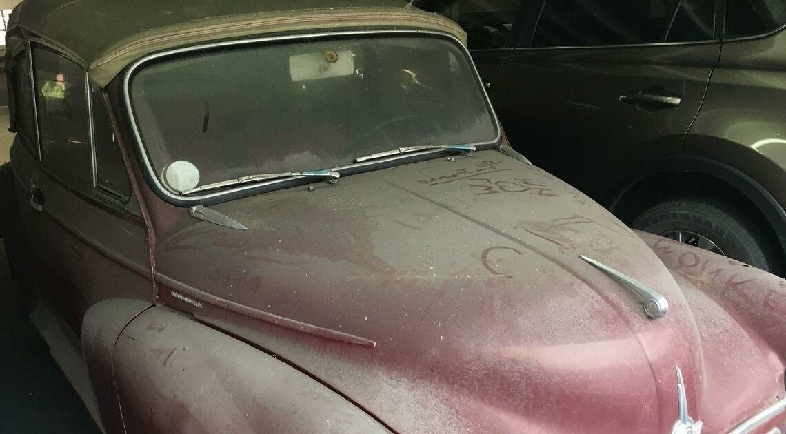 Mystery of vintage car named Mildred 'abandoned' for years in car park