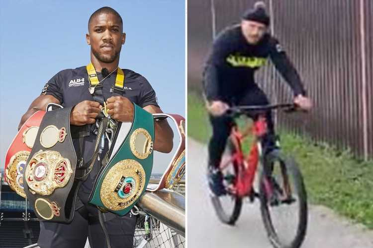 Oleksandr Usyk hilariously calls out Anthony Joshua while cycling with four weeks to go until heavyweight showdown