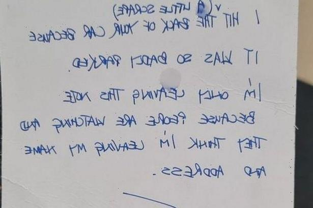 Pregnant woman distraught after 'horrible' note left on her parked car at shopping centre