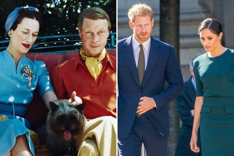 Prince Harry and Meghan Markle 'risk fading into obscurity like Edward VIII and Wallis Simpson', filmmaker claims