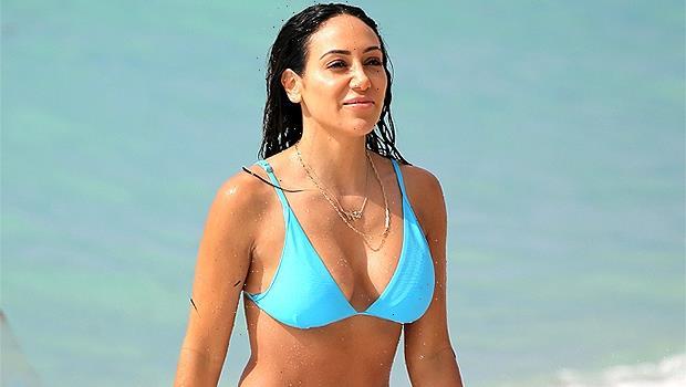 RHONJ Star Melissa Gorga, 42, Hits The Beach In Neon Green Swimsuit  Sexy Photo