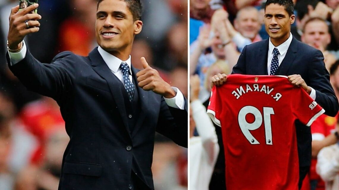 Raphael Varane unveiled at Old Trafford as £42m transfer is FINALLY completed ahead of Man Utd vs Leeds clash