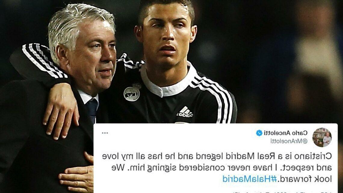 Real Madrid manager Carlo Ancelotti insists 'legend' Cristiano Ronaldo will not return amid Bernabeu transfer links