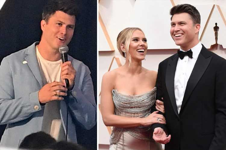 Scarlett Johansson's husband Colin Jost confirms actress is PREGNANT with their first child together in stand-up routine