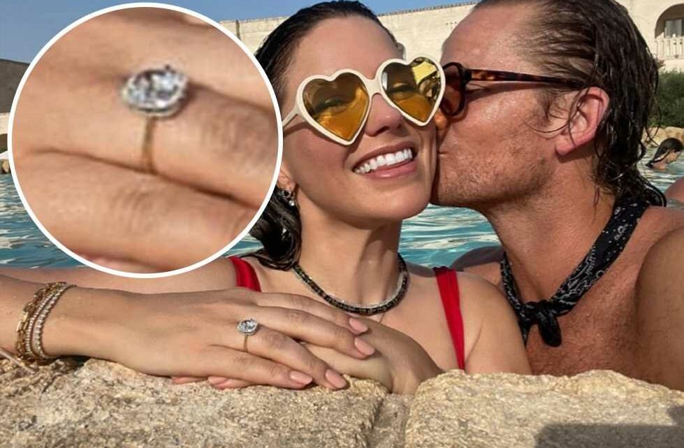 Sophia Bush shows off engagement ring from fiancé Grant Hughes