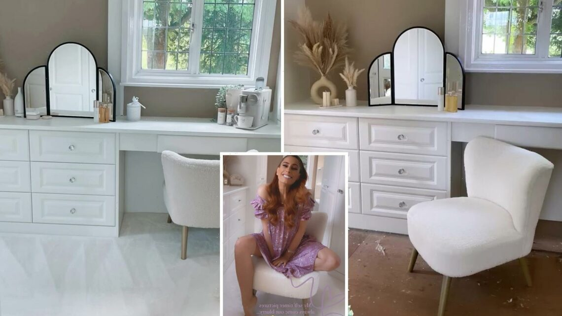 Stacey Solomon unveils finished dressing room complete with 'impractical' carpet