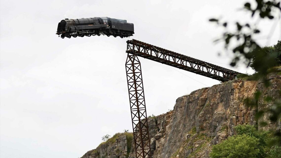 Steam train derails and plummets off cliff during filming for Mission Impossible